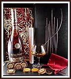 Geschenk Cognac Remy Martin VSOP Mature Cask Finish mit Edel Schokoladen & Glas im Geschenk Karton, kostenloser Versand