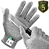 Kasimir® Schnittschutz Handschuhe Schnittfeste Handschuhe Extra Starker Level 5 Schutz