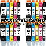 20 MAXIMPRINT Drucker-Patronen kompatibel Canon PGI-570 XL & CLI-571 XL Multipack Set mit Chips und Füllstandsanzeige kompatibel zu Canon Pixma MG-5700 Series MG-5750 MG-5751 MG-5752 MG-5753 MG-6800 MG-6850 MG-6851 MG-6852 MG-6853 MG-7700 MG-7750 MG-7751 MG-7752 MG-7753 TS-5000 TS-5050 TS-5051 TS-5053 TS-5055 TS-6000 TS-6050 TS-6051 TS-6052 TS-8000 TS-8050 TS-5051 TS-8052 TS-9000 TS-9050 TS-9055