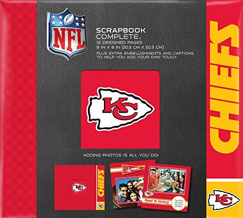 C.R. Gibson Scrapbook Complete Kit, Small, Kansas City Chiefs (N878495M) by C.R. Gibson