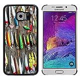 Hülle Case Schutzhülle Cover Premium Case // V00002597 Angeln Gebraucht lockt // Samsung Galaxy S6 EDGE (Not Fits S6)