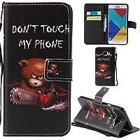Ooboom® Samsung Galaxy A5 2016 Coque PU Cuir Flip Housse Étui Cover Case Wallet Portefeuille Fonction Support avec Porte-cartes Dragonne pour Samsung Galaxy A5(2016 Version) - Ours