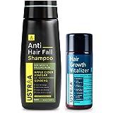 Ustraa Anti Hairfall Shampoo - 250ml & Hair Growth Vitalizer - 100ml