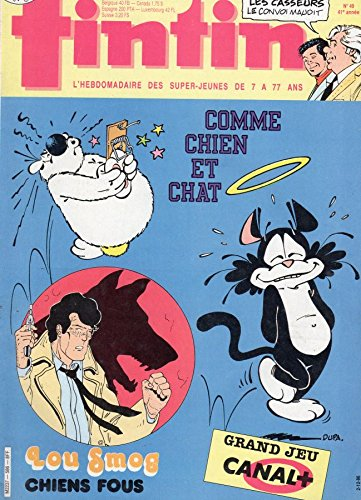Tintin n° 586 - 02/12/1986 - Comme chien et chat/Lou Smog : Chiens fous/Grand jeu Canal+