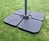 Sekey Ampelschirmständer Marktschirmständer Kurbelschirmständer Sonnenschirmständer für Bodenkreuz,schwarz,60-80kg