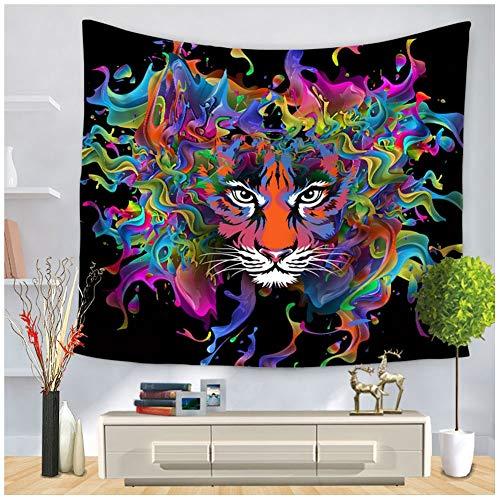 Wandteppiche Kreative Tapisserie Wandbehang Abstrakte Herrschsüchtige Tiger Print Home Decor Böhmen Vorhang Bettlaken Strand Decke Hippie Tapisserie (Size : 150 * 130cm)