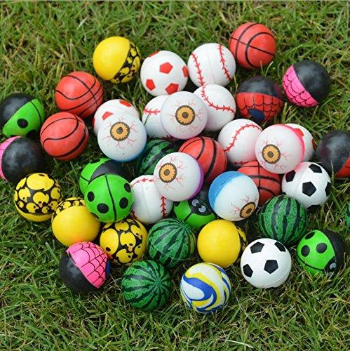 Primi 100pcs mixed color Bouncy Jet pelotas Kids cumpleaños PAPTY Regalos juguete