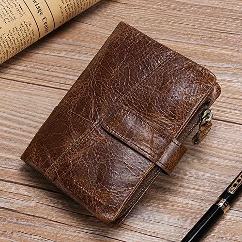 ein Leder Braun, RFID-Blockierung Reißverschluss Geldbörsen für Herren Herren Geldbörse Leder Herren Brieftasche & Kreditkarteninhaber, für Herren Herren Vater, Brown ()