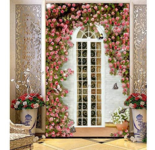 Xzfddn White House Rose Garden Eingang Continental 3D Wallpaper Landschaft Tapeten Für Wohnzimmer Home Decoration-400X280cm -
