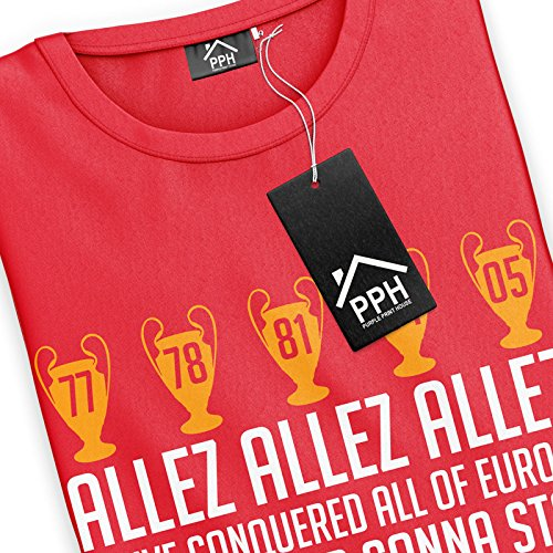 3aab62950d1 Liverpool Football T Shirt Allez Allez Allez Champions League Final Fan Song