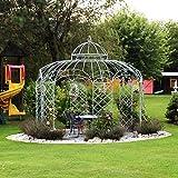 Pavillon, Gartenpavillon, Pavillon Metall, Gartenlaube, Eisenpavillon Roma  350 cm (Eisenblank)