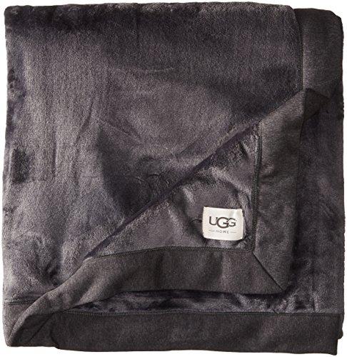 UGG Australia Duffield Überwurf Decke Stout braun, Polyester, Black Bear Heather, 50