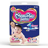 MamyPoko Pants Extra Absorb Diaper - Medium Size, Pack of 114 Diapers (M-114)