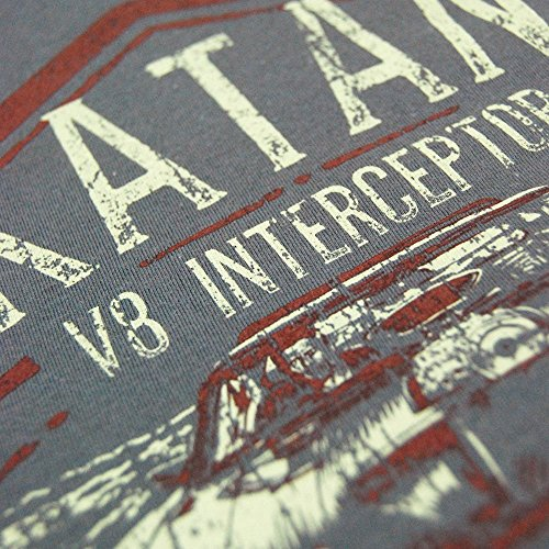 Herren Rockatansky V8 Interceptor verblichen Druck T Shirt Grau Grau