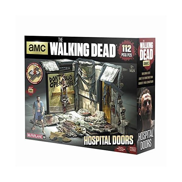 McFarlane- Puzles The Walking Dead Set de Construcci&oacuten Puertas Hospital, Multicolor, Ninguna (MC Farlane 14524-3) 2