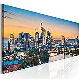 murando Bilder Frankfurt 135x45 cm - Vlies Leinwandbild - 1 Teilig - Kunstdruck - Modern - Wandbilder XXL - Wanddekoration - Design - Wand Bild - Stadt Frankfurt Panorama d-B-0164-b-a