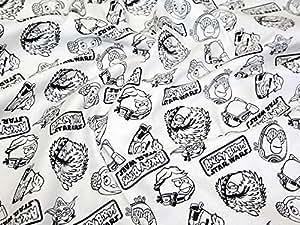 Angry Birds Star Wars Collection contours de tissu en coton vendu au mètre Blanc