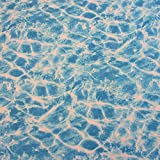 Stoff Meterware Baumwolle Wasser Swimming Pool Welle Meer