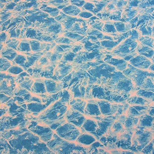 Pool-stoff (Stoff Meterware Baumwolle Wasser Swimming Pool Welle Meer aqua azur Schaufensterdeko)
