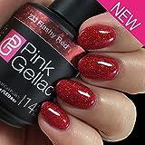 Pink Gellac UV Nagellack 233 Flashy Red. Professionelle Gel Nagellack shellac für mindestens 14 Tage perfekt glänzende Nägel