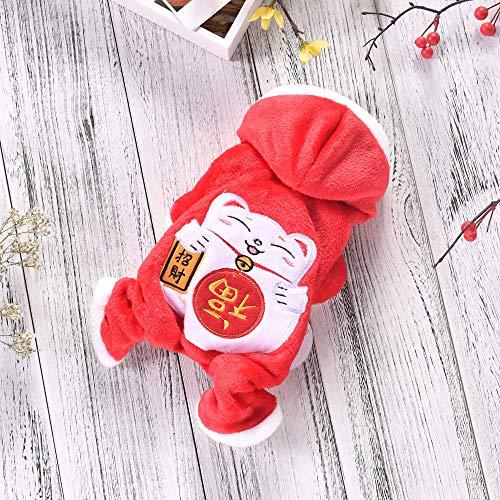 CLLUZU Hundemantel für den Winter Winddicht Reversible Mantel für Kälte Chinesischen Stil Plaid Warme Weste für Kleine Mittelgroße Hunde(Größe XL) Reversible Winter Mantel