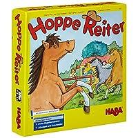 Haba-4321-Hoppe-Reiter-Pferdestarkes-Wettlaufspiel-fr-2-4-Spieler-von-3-12-Jahren-Spielbar-in-3-Varianten-Brettspiel-mit-einfachen-Spielregeln