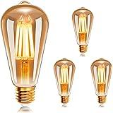 Ampoule à filament LED E27 ST64 ,Ampoules Vintage 6W 2200K Blanc Chaud , EXTRASTAR Rétro Edison Ampoule Vintage Antique Lampe