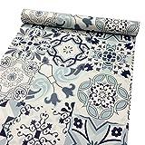 Lovefaye Schrank-Aufkleber, klassisches Porzellan-Muster, Kontaktpapier, wasserdicht, selbstklebender Einsatz für Einlegeboden, Schublade, Schrank, 45cm von 3 m.