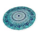 Strandtuch Tapestry Yogatuch Tischtuch Bohemian Style Indisch Mandala Strandtuch Türkis Runden Wandbehang Yoga Matte Runde Tischdecke aus Baumwolle