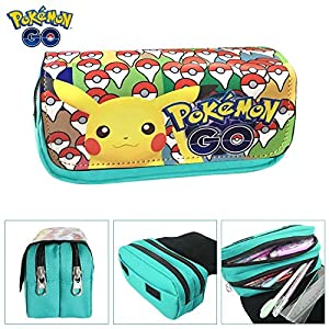 Estuches Material escolar Portatodo doble Pokemon Pikachu Mint