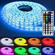 NINETEC Flash60 5m RGB LED Strip Leiste Streifen SMD Band 60 LEDs/m Wasserdicht + 44 Key Fernbedienung IP65