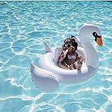 Bramble Aufblasbarer Kleiner Weißer Schwimmring in Form Eines Schwans - Kinder Schwimmbad Hilfe- Spaß am Strand und am Pool Spielzeug - schwimmhilfe, schwimmsitz - Geeignet für Kinder von 1-6 Jahren