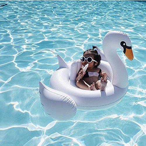 Piccolo salvagente gonfiabile cigno bianco - bebè gonfiabili float - perfetto per i bambini in piscina - adatto da 1 a 6 anni - da utilizzare in spiaggia e in piscina
