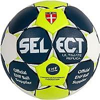 Select Handball Ultimate Replica - Balón de balonmano azul, naranja y blanco, color blau/gelb/weiss, tamaño 1