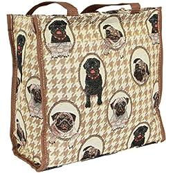 Bolso tapiz con diseño de carlinos