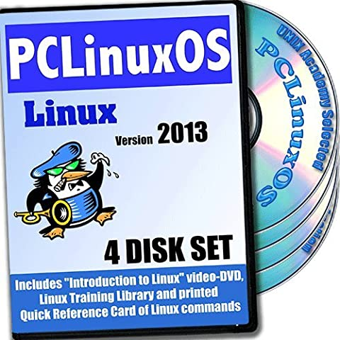 PCLinuxOS 2010 Linux, 4-Disks Installation And Reference Set, Ed. 2012