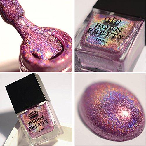 Born Pretty 10ml Vernis Holographique avec Holo Paillette Brillante Nail Art H004 - Temps Magnifique