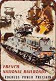 metal Signs 1955 French National Railroads Vintage Look Reproduktion Metall blechschild 17,8 x 25,4 cm