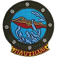 Twenty Thousand Leagues Under The Sea Blue Embroidered Badge Patch Sew-on or Iron-on 9cm