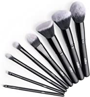 Brochas Maquillaje profesional 8 Piezas de Anjou, Set de Brochas de Maquillaje 100% Libre de Crueldad y Vegano con...