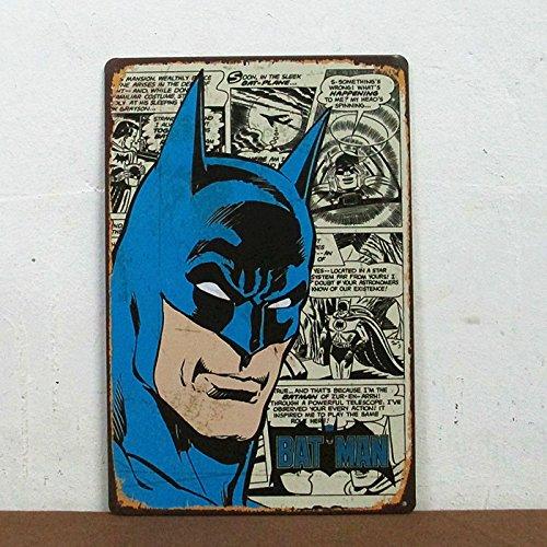 Sprinkles Gifts Batman Bamp;W Comics Tin Metal Sign Superhero Comic Book Hero Bat Man Wall Decor Collector Gift 8`` X 12``
