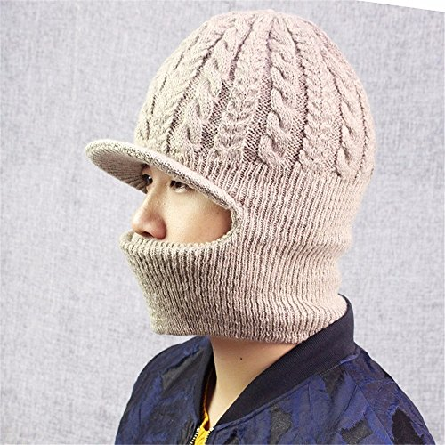 Wolle hat männliche stricken Outdoor Reiten warme Mütze männliche Maske mit Masken hat, (Masken Männliche)