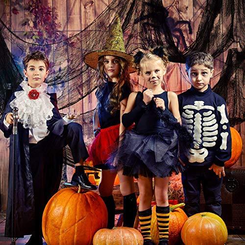 Schwarz Gruselige Tuch, Gruselige Halloween-Dekorationen, Halloween Spukhaus Party Dekoration Türöffnungen im Freien liefert, 315 '' X 79 '' - 6