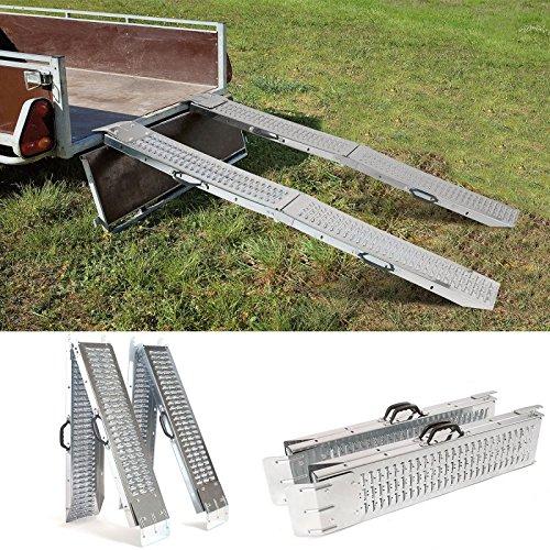 IDMarket - Set de 2 rampes pliables galvanisées spécial chargement