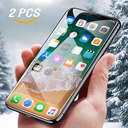 iPhone X Schutzfolie, [2 Stück]Mture Displayschutz iPhone X Panzerglas 9H Härte Anti-Kratzen Ultra Clear 3D Touch Kompatibel Tempered Displayschutzfolie für iPhone X Screen Protector (Transparente)
