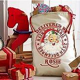 Personalised Vintage Santa Retro Ns002 Christmas Sack Stocking Xmas Present Bag Santa Mail Post