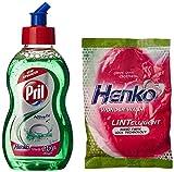 #3: Pril Dish Washing Liquid - 225 ml and Free Henko Worth Rupeess 10