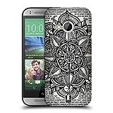 Head Case Designs Papier Mandala Doodle Ruckseite Hülle für HTC One Mini 2