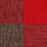 Raumausstatter.de Möbelstoff Rio Karo 900 Kariert Rot