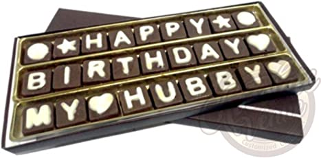 Chocolate Venue Delicious Birthday Chocolate Message for Husband